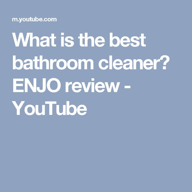 What is the best bathroom cleaner? ENJO review - YouTube