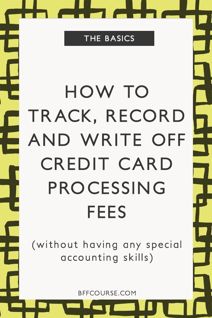 Small Business | Accounting | Credit Card Fees | Bookkeeping via @bffcourse