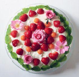 Glutenfrihet!: Blommig glutenfri sommartårta