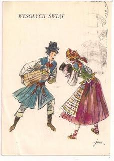 Vintage Polish card, John Martin Szancer
