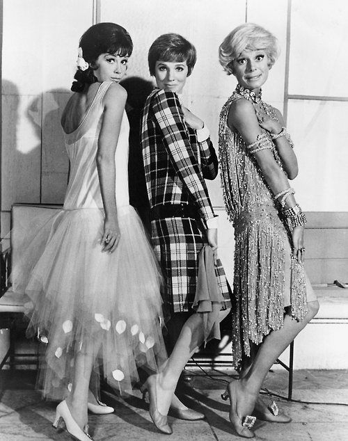 1966 Julie Andrews Mary Tyler Moorw and Carol Channing on Thoroughly Modern Millie promo pics