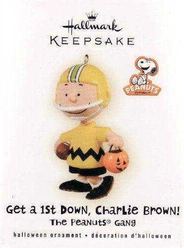 Hallmark 2009 Get a 1st Down Charlie Brown Peanuts Gang Halloween - QFO4002 @ niftywarehouse.com #NiftyWarehouse #Peanuts #CharlieBrown #Comics #Gifts #Products