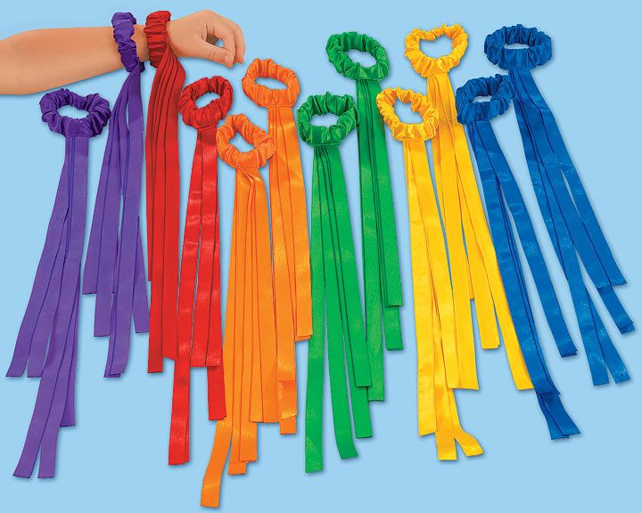 We love these ribbons but only have 2 (got as a present). Must get for playing for presents or maybe party favors  Lakeshore Wrist Ribbons - Set of 12