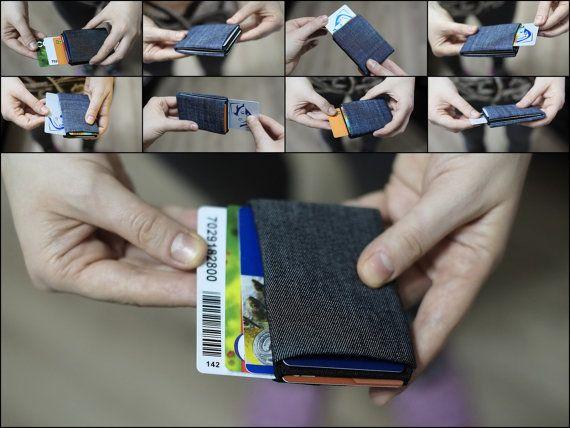 Limited Edition Denim Minimalist Wallet Womens by NeroWallet
