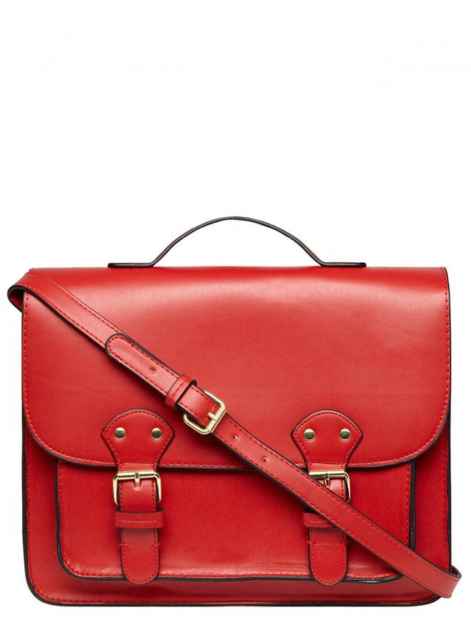 Dorothy Perkins Red Structured Satchel: Must Have Structured Bags - Lookbooks, Photos | ModaMob