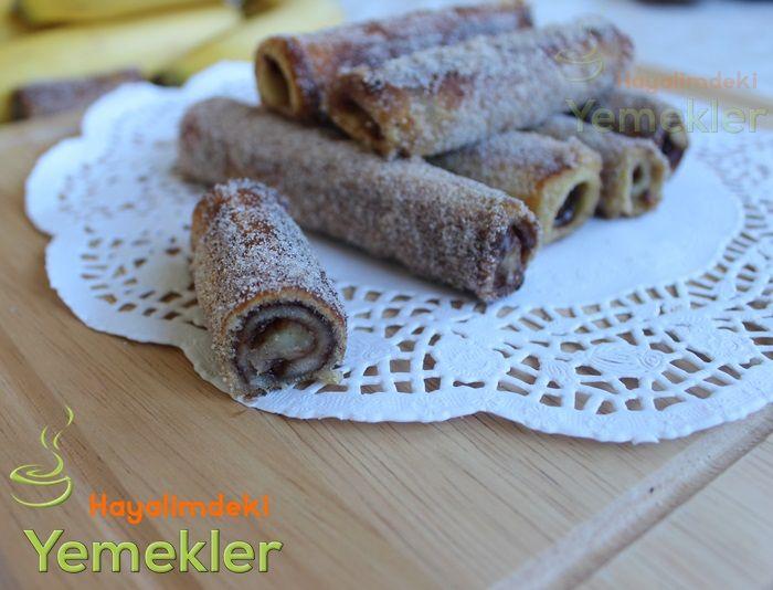 Nutellalı Muzlu Tost ekmeği Kızartması (Fransız Tostu )