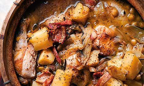 Chickpeas, chicken and parsnip casserole - Nigel Slater