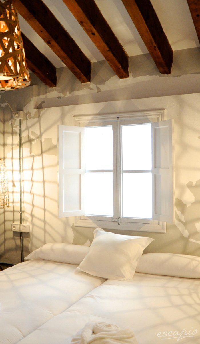 Lights on! Bedroom at Brondo Architect Hotel in  Palma de Mallorca, Spain. Spanien