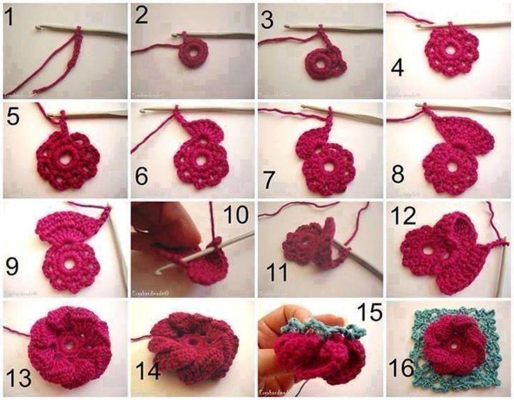 Résultats de recherche d'images pour «como tejer una flor»