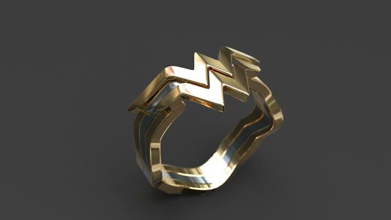 Wonder Woman Stacking ring by BerylRoll on Etsy