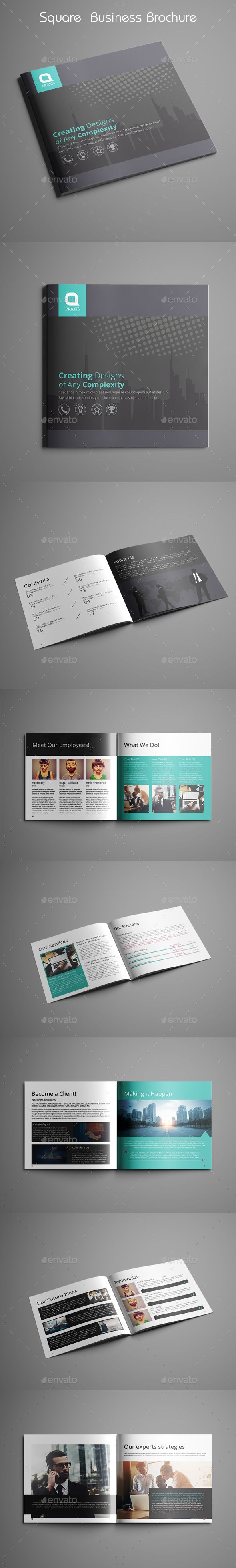 Square Business Brochure — InDesign INDD #20x20 #cmyk • Download ➝ https://graphicriver.net/item/square-business-brochure/18845908?ref=pxcr