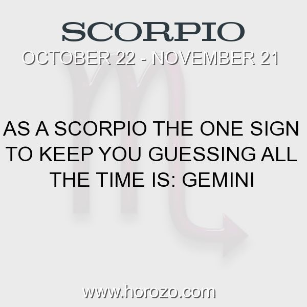 Fact about Scorpio: As a Scorpio The One Sign To Keep You Guessing All The... #scorpio, #scorpiofact, #zodiac. Astro Social Network: https://www.horozo.com Fresh Horoscopes: https://www.horozo.com/daily-horoscope Tarot Card Readings: https://www.horozo.com/tarot-cards Personality Test: https://www.horozo.com/personality-type-test Chinese Astrology: https://www.horozo.com/chinese-horoscopes Zodiac Compatibility: https://www.horozo.com/partner-compatibility-by-zodiac-signs Meanings of