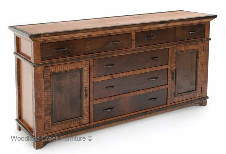 This Refined Rustic Sideboard Bridges The Gap Between Rustic And Traditional Furniture The Wood
