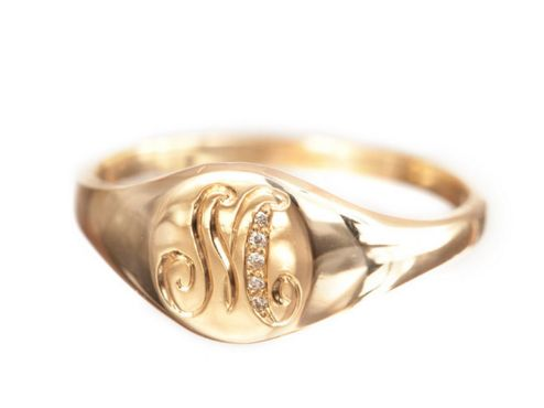 Favorite Staple (this gold initial signet ring from Ariel Gordon is the perfect everyday piece)