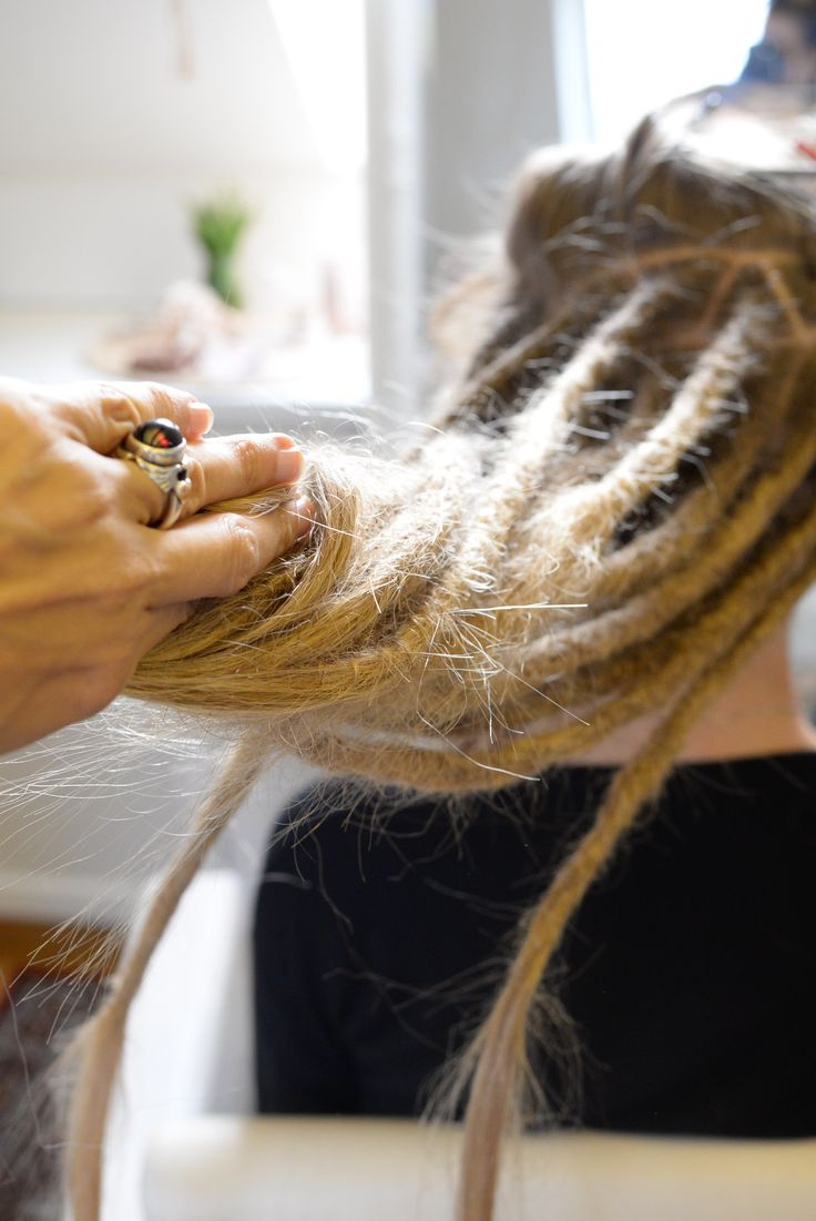Dreadlocks in the making! It's amazing to see the transformation when people come to get dreadlocks done by me.