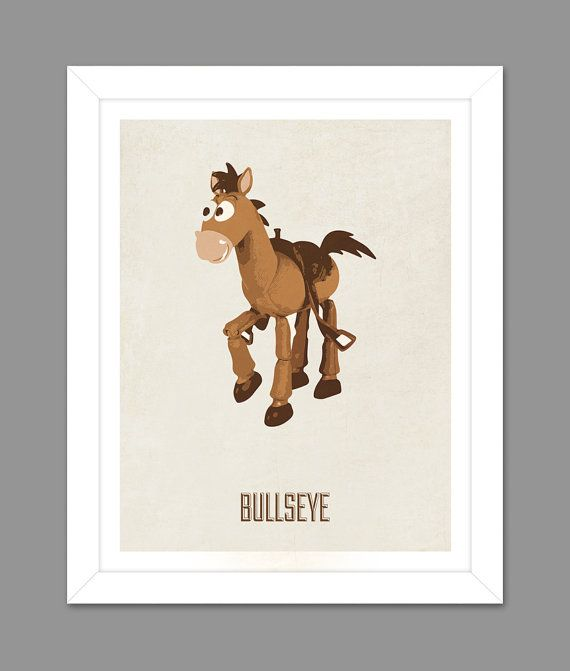 digital download toy story bullseye woodys horse poster art nursery art print toy story nursery