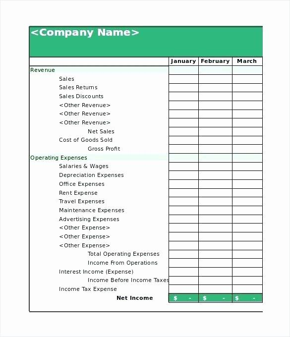 Small Business Financial Statement Template In 2020 Statement