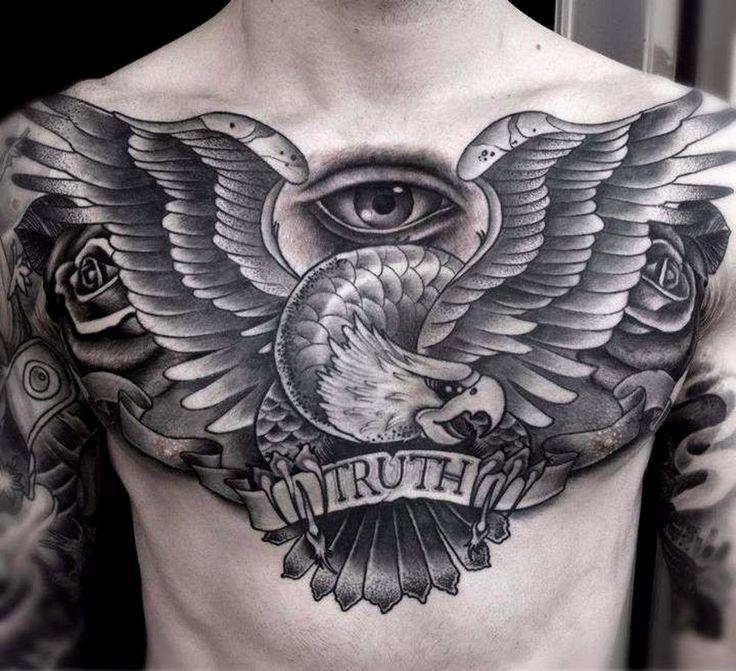 Татуировки на груди | 566 фотографий