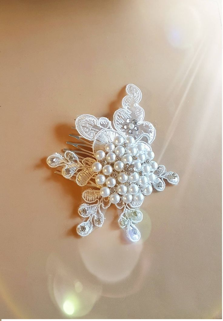 Excited to share the latest addition to my #Etsy shop: Bridal Cluster Pearl Crystal hair Clip, Hair fascinator, crystal & pearl ,Motif hair comb, Bridal headpiece, wedding hair piece, Bridal comb http://etsy.me/2Ck47Pi #weddings #accessories #weddings accessories #hair
