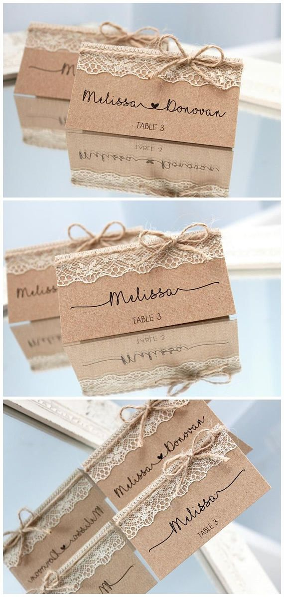 rustic place cards rustic wedding place cards