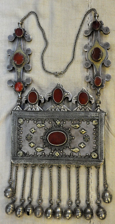 Kazakhstan | Silver, silver gilt and cornelian stones | 19th century | Price on request