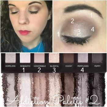 Simple easy eye shadow look moodstruck addiction eyeshadow palette #2 younique day night neutral browns black silver metallic tutorial graph #ChalysesMakeupShowroom