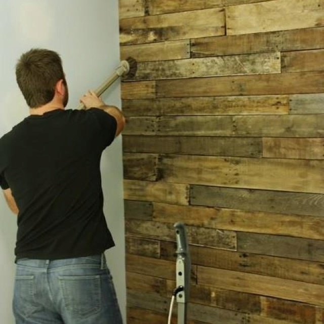 3 4 Pallet Wood Accent Wall: 19 Best Covering An Ugly Wall Images On Pinterest