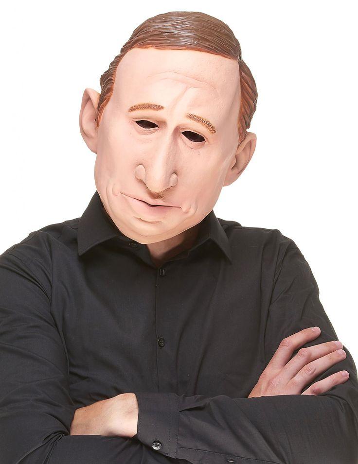 Máscara humorística de látex Vladimir adulto: Esta máscara integral es de látex y representa al presidente de la Federaciòn Rusa.Presenta huecos para ojos, nariz, boca y orejas.Esta máscara es ideal para tu disfraz de...