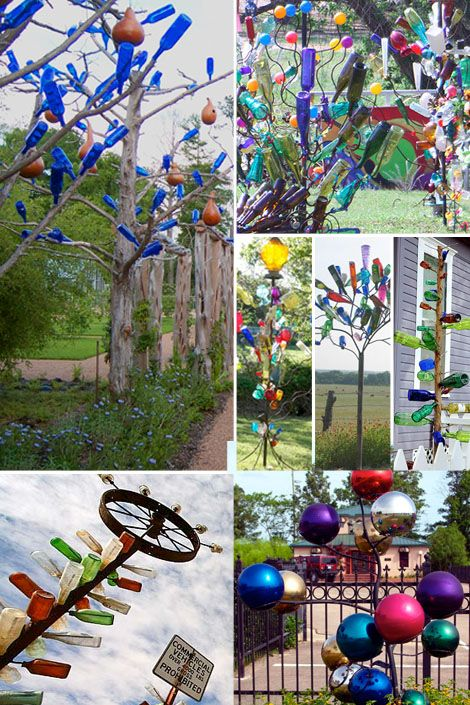 """YET another reason bottle trees should be considered Bottle trees are said to capture evil  spirits.  Here is the legend at Texas Tin Lizard, """"Evil spirits are drawn to the glow of colored glass, especially blue wine bottles. They enter the bottles and are trapped inside, consumed, and converted to goodness and radiant light."""""""
