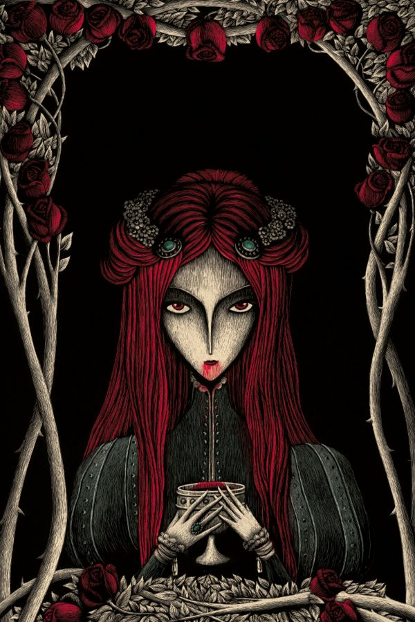 VAMPIROS by Meritxell Ribas Puigmal, via Behance  |  LOVE these. So rich and stylistically wonderful.