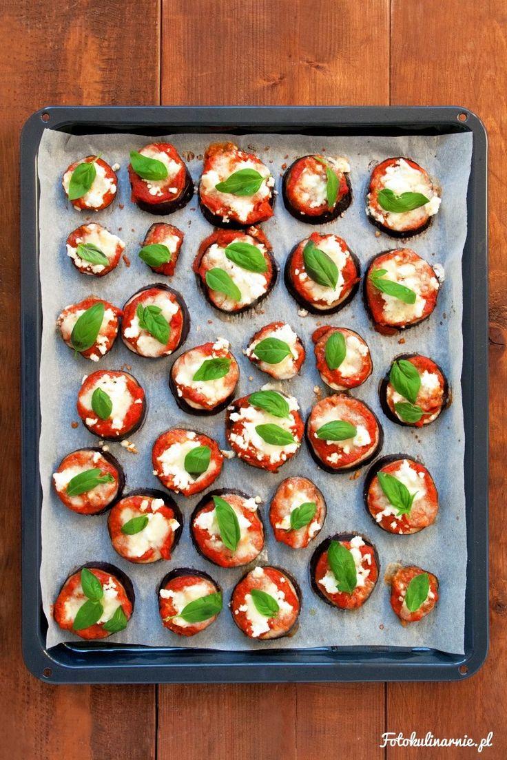 Mini Eggplant Pizzas.