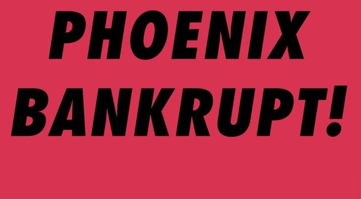 Сегодня утром на странице группы Phoenix в Facebook и на их официальном сайте была опубликована фотография с надписью Phoenix Bankrupt!. Как оказалось позже, это название нового альбома группы. Новость появилась сразу после известия о том, что группа выступит с концертами на ежегодном рок-фестивале Rock am Ring & Rock im Park