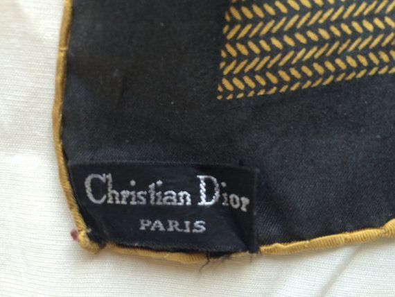 FREE SHIPPING  Vintage Christian Dior Mustard Yellow and