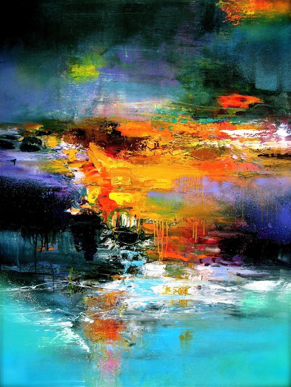 """Saatchi Online Artist: Stricher Gerard; Oil, 2010, Painting """"""""Patagonia mon amour"""""""" (I like the colors Artist used)"""