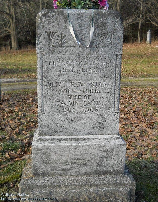 ON: Gore / Clanbrassil / Dufferin Cemetery (Olive Irene STARK), CanadaGenWeb's…