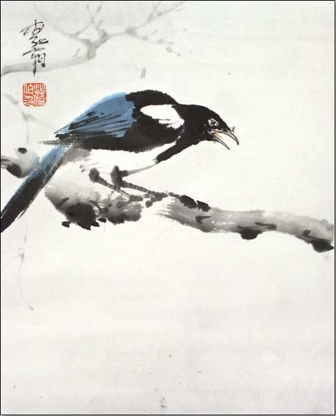 birds #sumie #brushpainting #Ink and Wash Painting #Chinese Art #Japanese Art #piel #shoppiel #inspiration