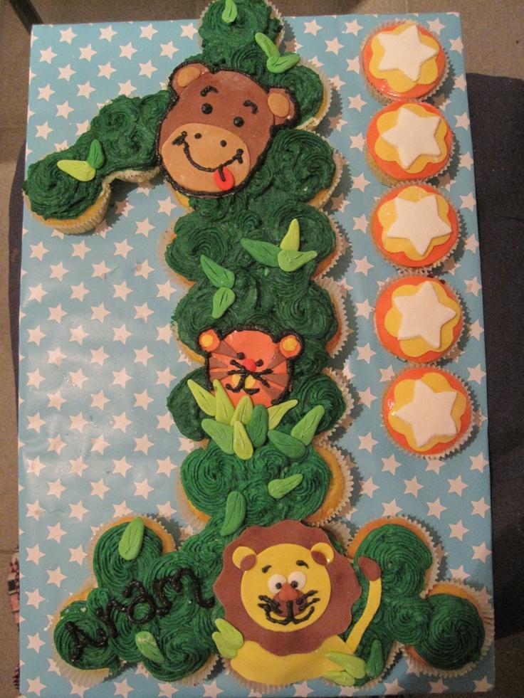 Jungle cupcake cake ideas