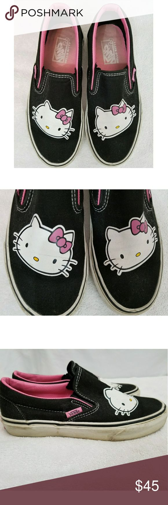 Hello Kitty Vans Pretty worn, but still have lots of life left. Vans Shoes Sneakers