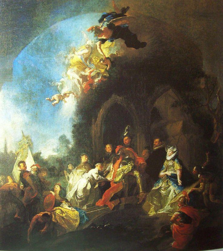 Josef Winterhalder ml. Založení kláštera Klosterbruck 1784 Praha, Národní galerie