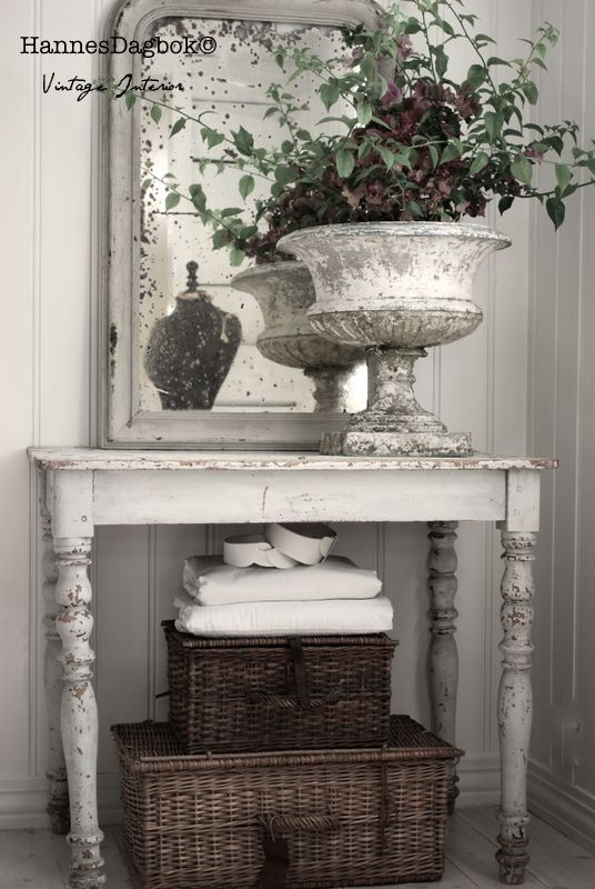 The Urn Is The Focus Of This Shabby Chic Entry..................