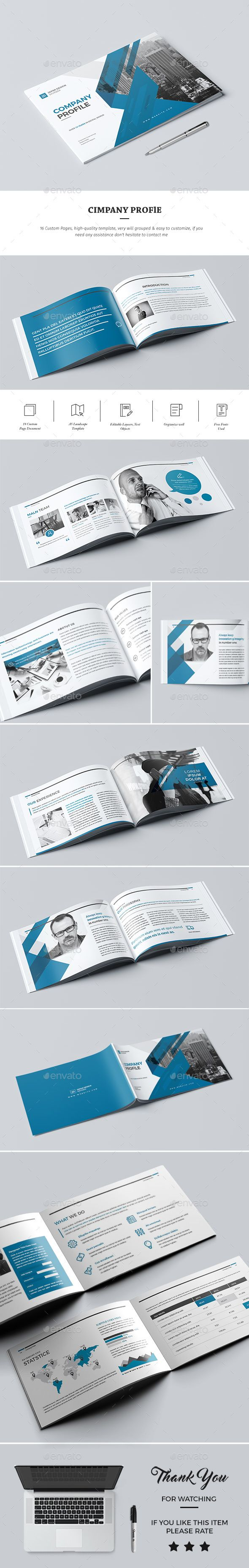 #Company #Profile #Template 2017 - #Corporate #Brochure #Design. Download here: https://graphicriver.net/item/company-profile-2017/19748458?ref=yinkira