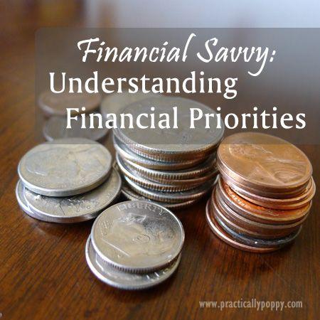 Financial Savvy: Understanding Financial Priorities