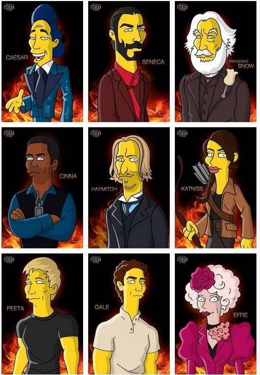 106 best hunger games images on pinterest the hunger games the hunger games catching fire simpsons style voltagebd Gallery