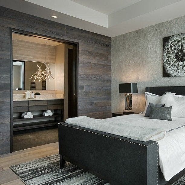 I Like The Two Tone Walls Use Old Barn Wood For One Wall And Something More Luxurious But Still