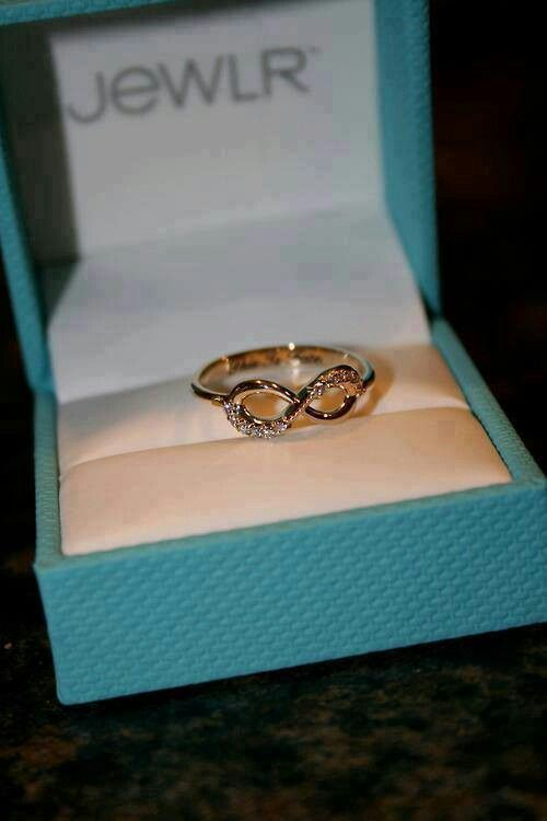 Infinity ring. Simple for a promise ring