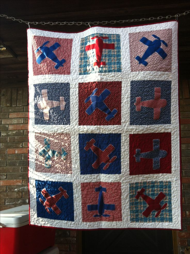 Vintage Airplane Quilt Items I Hand Made Pinterest