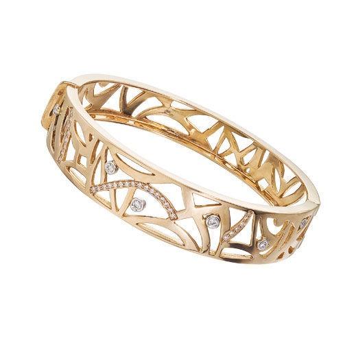Diamond Jewellers :: 18KT ROSE GOLD SAFARI FLAT BANGLE