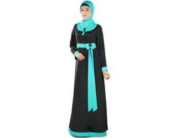 Borduurwerk Dubai Abaya Maxi Feest Bruiloft Eid Dress door MyBatua