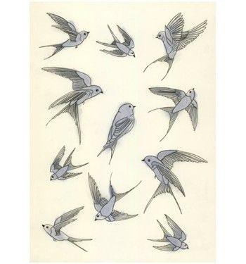 Arte de pájaros. El pájaro azul de la felicidad por matouenpeluche