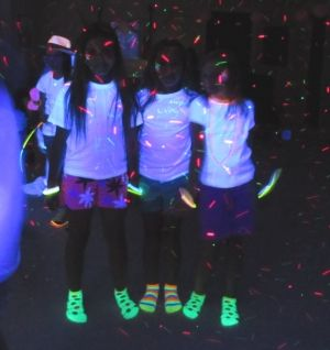 Black Light Reactive Clothes and cool neon glow party ideas at BlackLightBash.com